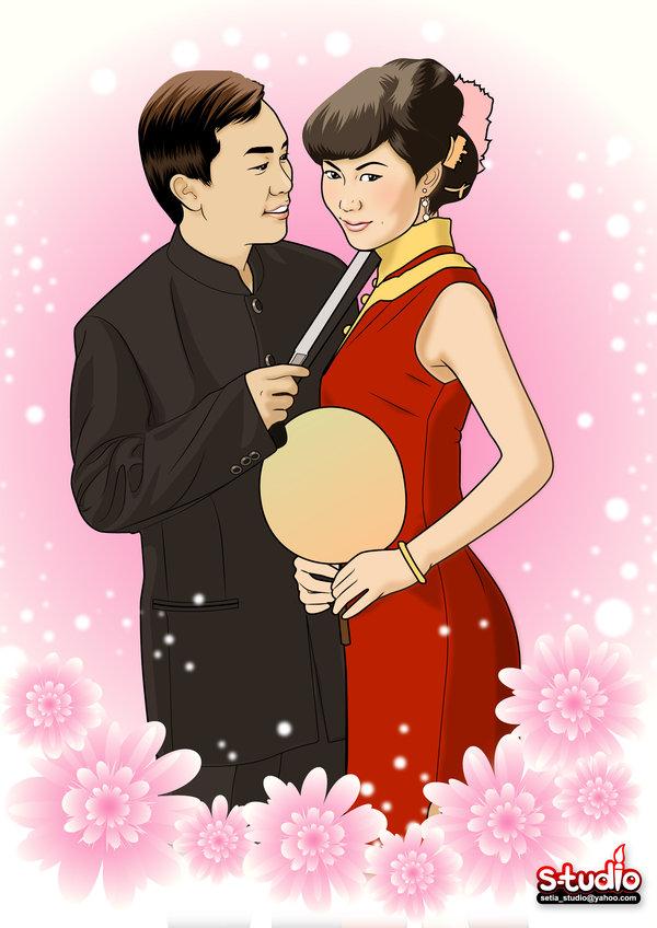Chinese_wedding_Cartoon_style_by_nigaoe